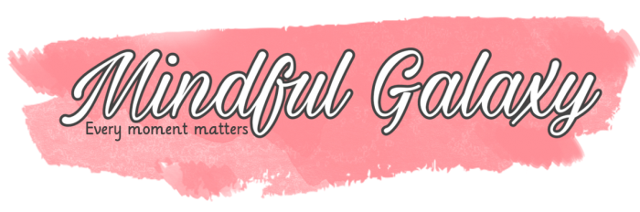 Every moment matters. A calming logo for Mindful Galaxy