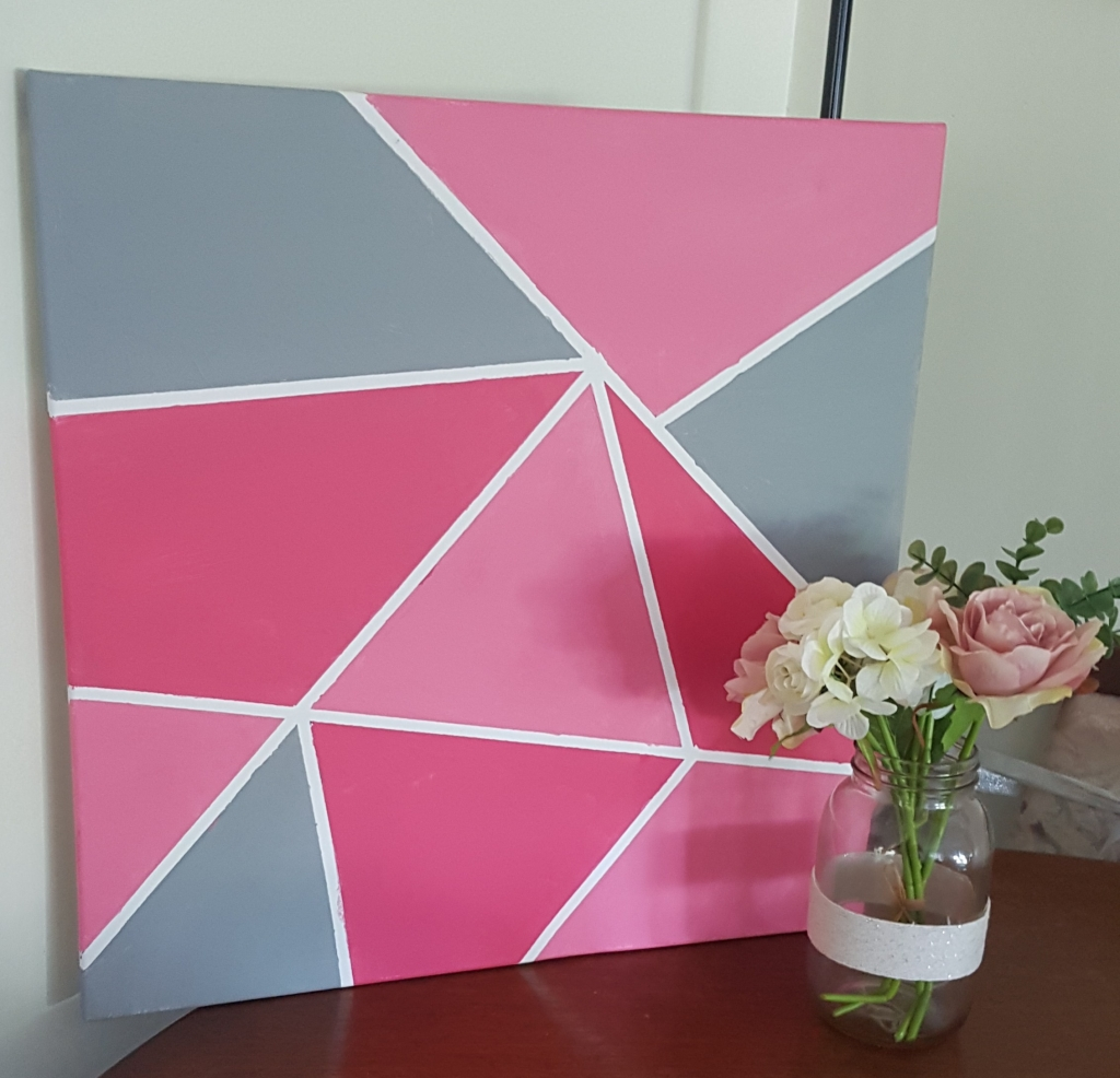 DIY Geometric art work