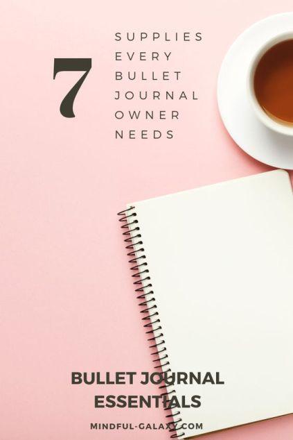 best supplies for a beginner bullet journal